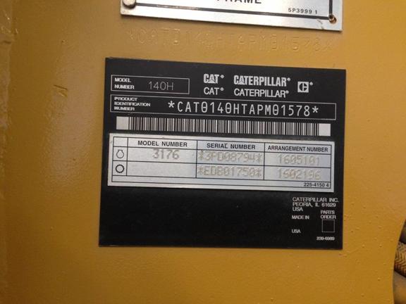 Cat 140H 0APM01578