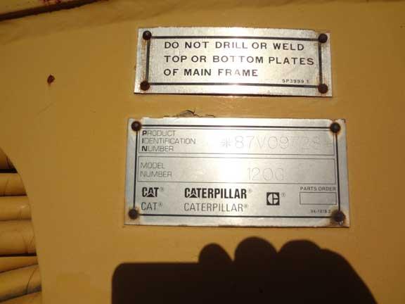 Cat 120G 87V09728