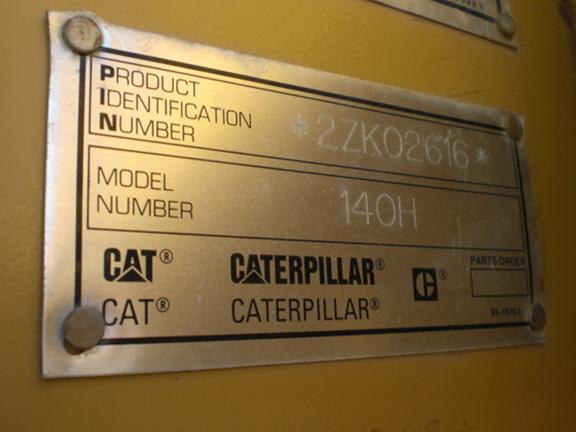 Cat 140H 2ZK02616
