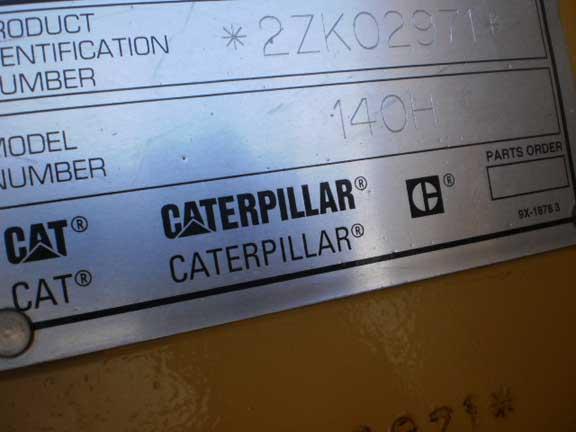 Caterpillar 140H 2ZK02971