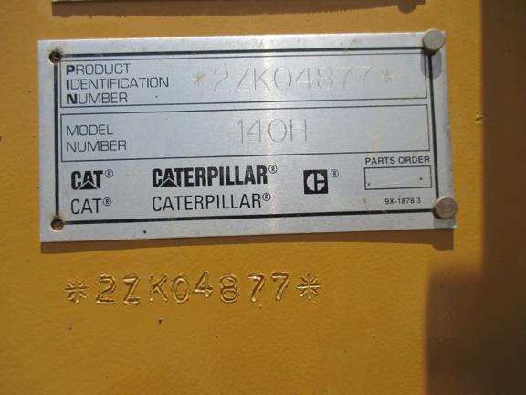 Cat 140H 2ZK04877