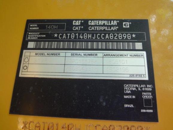 Cat 140H CCA02O9O