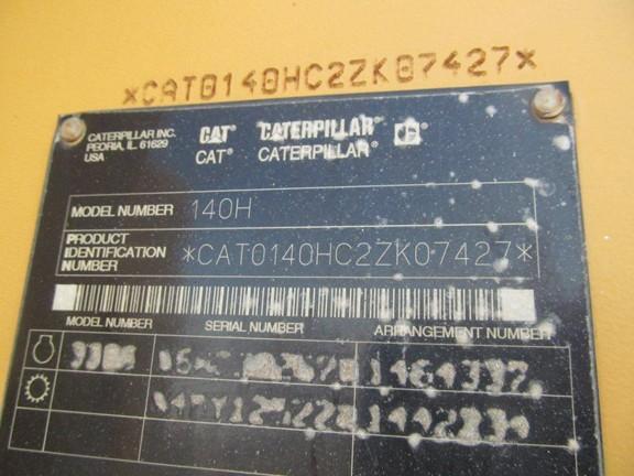 Cat 140H 2ZK07427