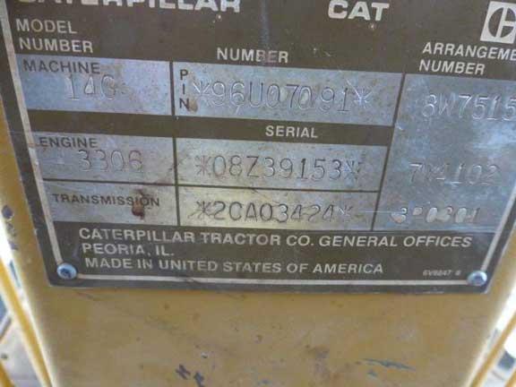 Cat 14G 96U07091