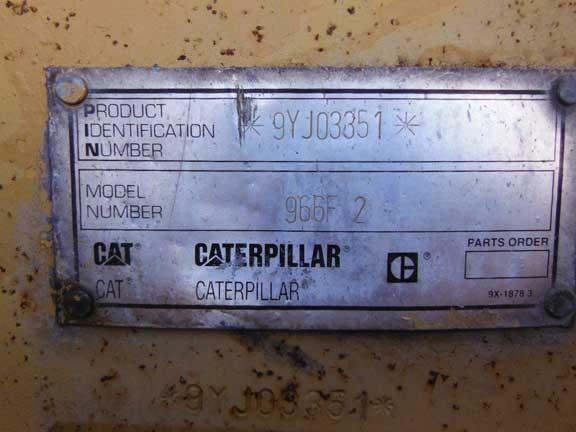 Cat 966FII 9YJ-3351