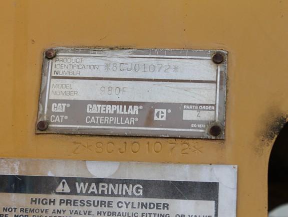 Cat 980F 8CJ01072