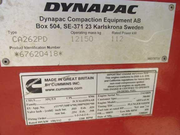 Dynapac CA262PD 62620418