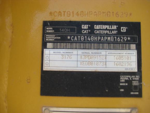 Cat 140H APM01629