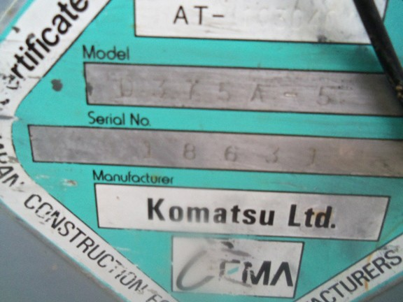 Komatsu D375A-5 18631