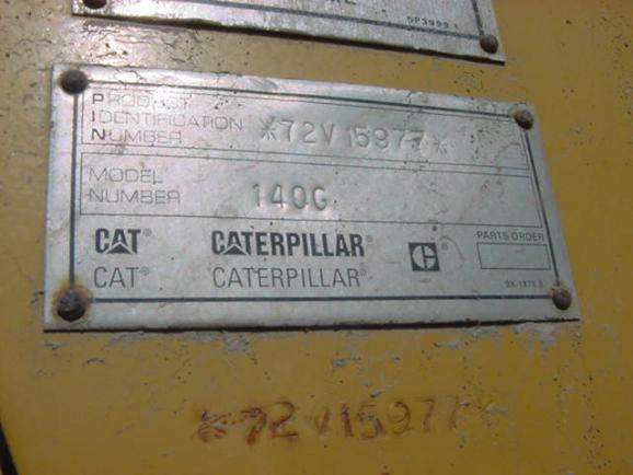 Cat 140G 072V15977