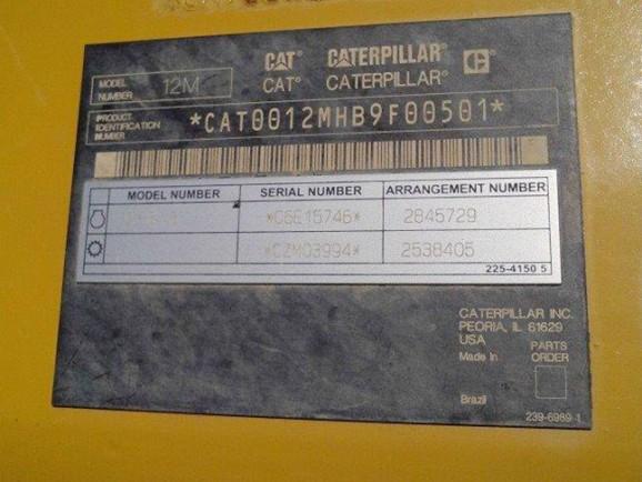 Caterpillar 12M 0B9F00501