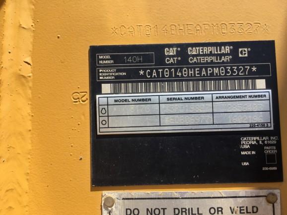Caterpillar 140H APM03327