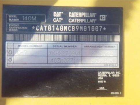 Caterpillar 140M B9M01007