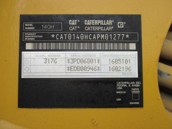 Cat 140H APM01277