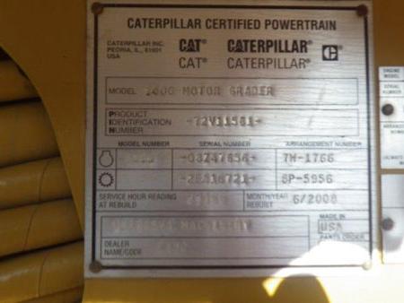 Cat 140G 72V11561