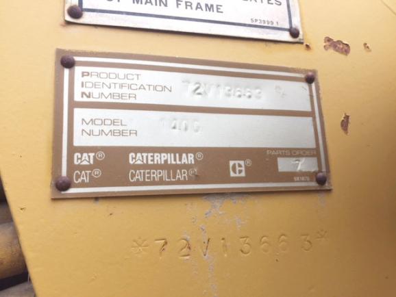 CAT 140G 72V13663