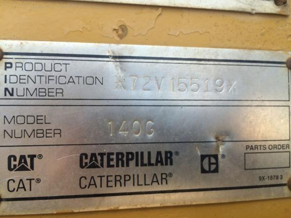 Cat 140G 72V15519