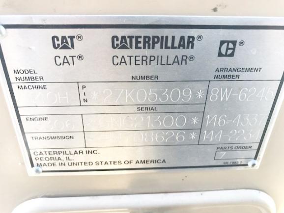 Cat 140H 02ZK05309