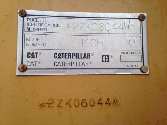 Cat 140H 2ZK06044