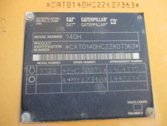 Cat 140H 2ZK07363