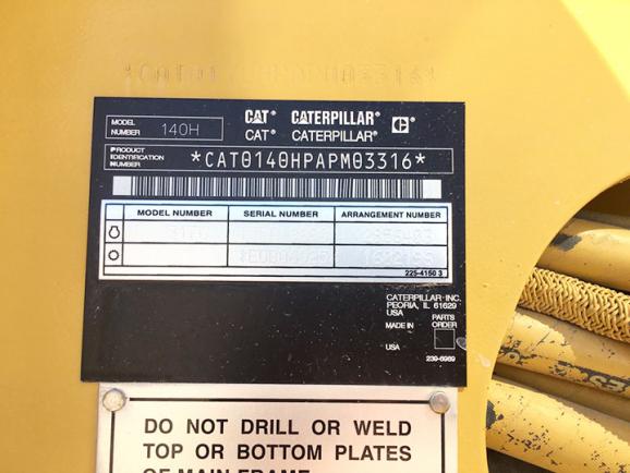 CAT 140H APM03316