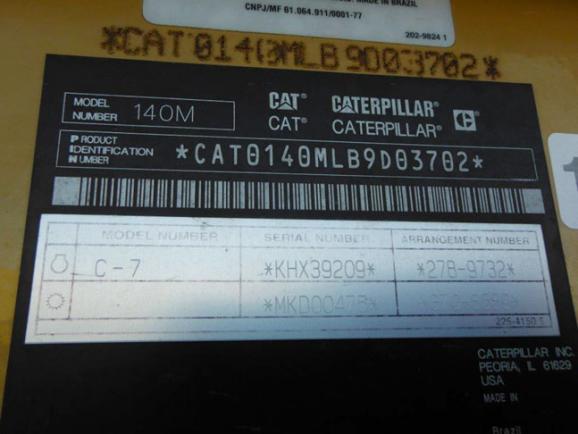 Caterpillar 140M B9D03702