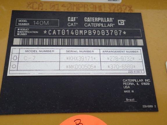 Caterpillar 140M B9D03707