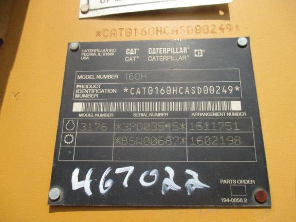 Cat 160H ASD00249